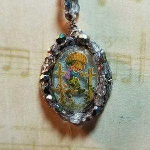 #0201 Hollie Hobbie Jeweled Pendant